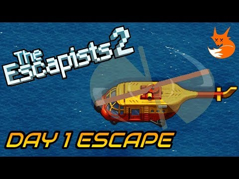 H.M.P. OFFSHORE DAY 1 ESCAPE (Helicopter Perimeter Breakout) | The Escapists 2 [Xbox One]