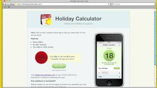 Introducing the Holiday Calculator App