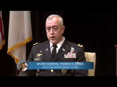 Meet Your Army: Major General Thomas E. Ayres, Deputy Judge Advocate General U.S. Army