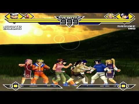 Naruto Party 4v4 Patch MUGEN 1.0 Battle!!!