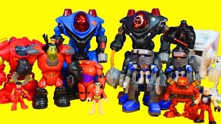 Imaginext Robot Wars with Iron Man Superman Big hero 6 Baymax Nightwing Star Wars Darth Vader