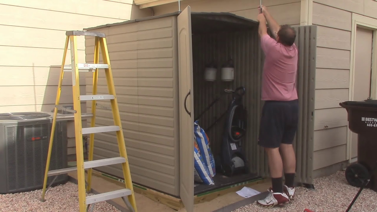 Hinge Modification For Rubbermaid Large Storage Shed Youtube