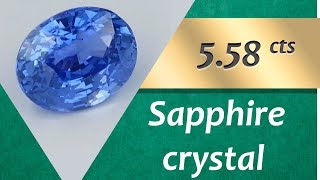 Sapphire Crystal. 5.58 Carats Natural Sapphire Crystal