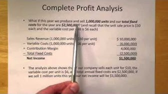 Contribution Margin and CVP Analysis (Part 1 of 2)