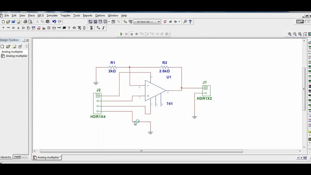 PCB Design for Analog Multiplier