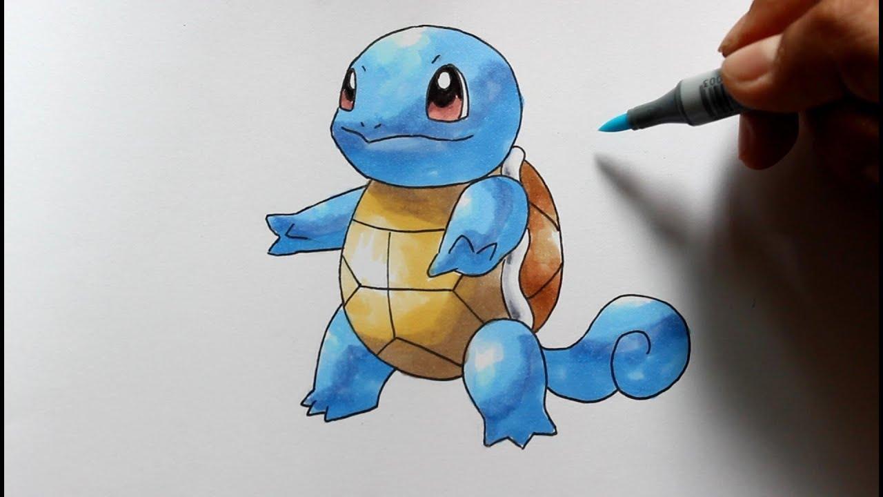 Wie zeichnet man Schiggy [Pokemon] zeichen tutorial - YouTube