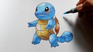 Wie zeichnet man Schiggy [Pokemon] zeichen tutorial