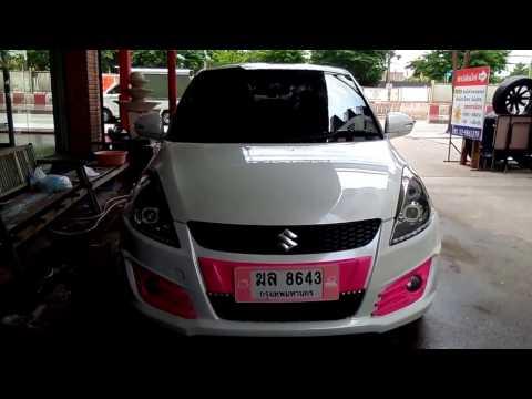 แต่งรถ SUZUKI SWIFT สีชมพูไฟหน้าแต่งสุดสวย โดย OPTIONGT