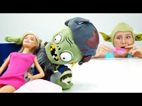 Игры: ЗОМБИ напали на БАРБИ! #Барби превратилась в ЗОМБИ: готовим противоядие!💊 Видео для девочек