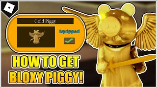 How to UNLOCK GOLD PIGGY SKIN + *ALL 4 WHEEL LOCATIONS* in PIGGY! (BLOXY AWARDS EVENT SKIN) [ROBLOX]