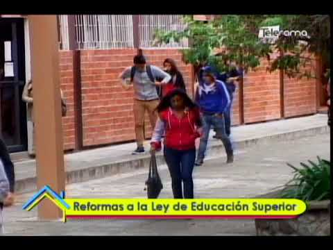 Reformas a la ley de educación superior