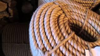видео отделка сруба канатом