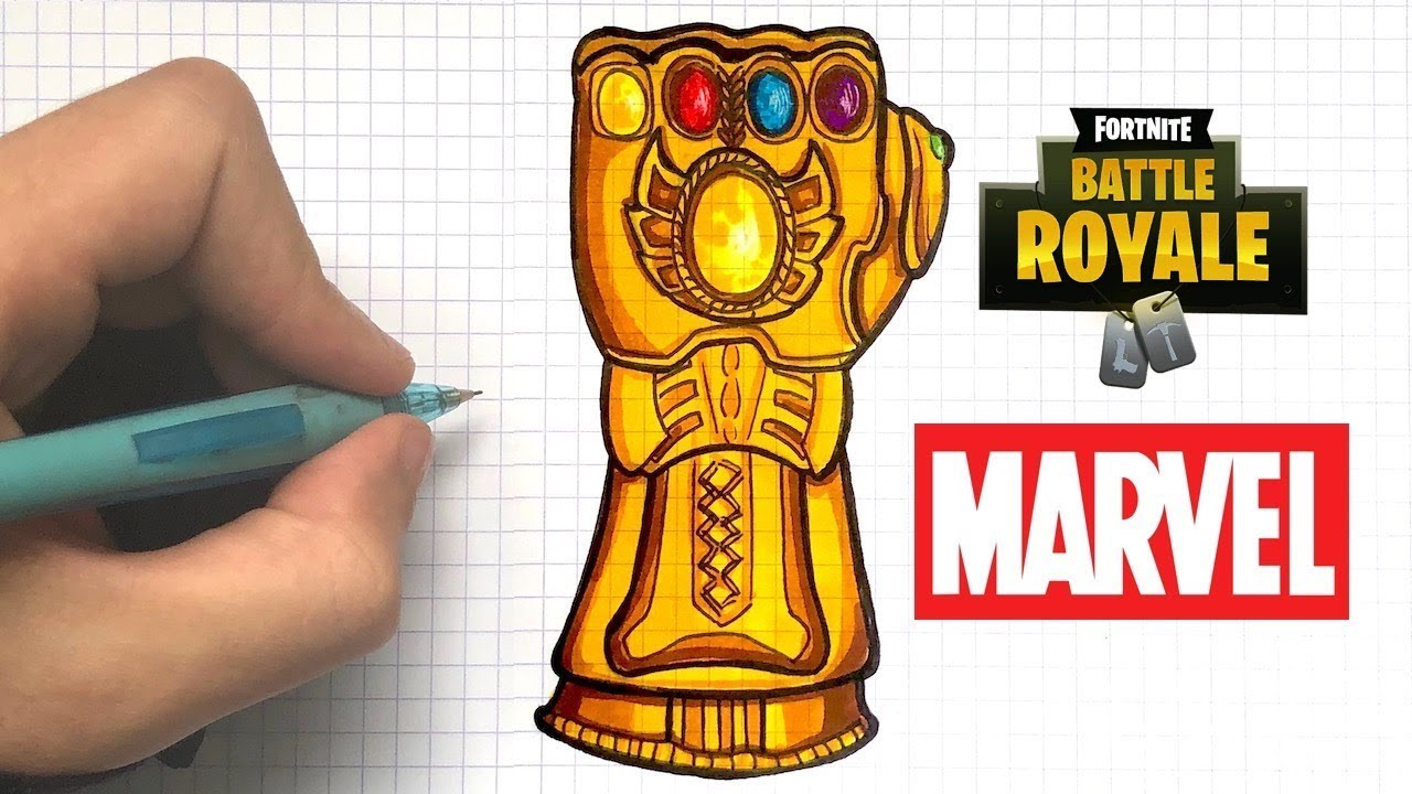 Como Dibujar El Guante De Thanos Fortnite Youtube