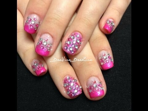 sweet 16 glamour nails with sensationail