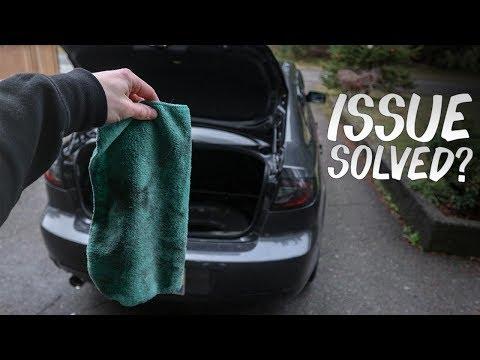 DIAGNOSING The Mazda 3's LEAKY Trunk!