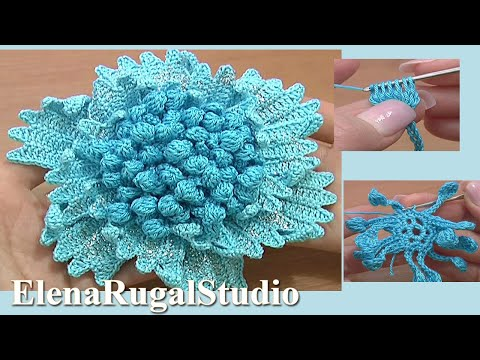 Big Flower To Crochet Tutorial 61 Part 2 Of 3 Crochet Two Layers Of