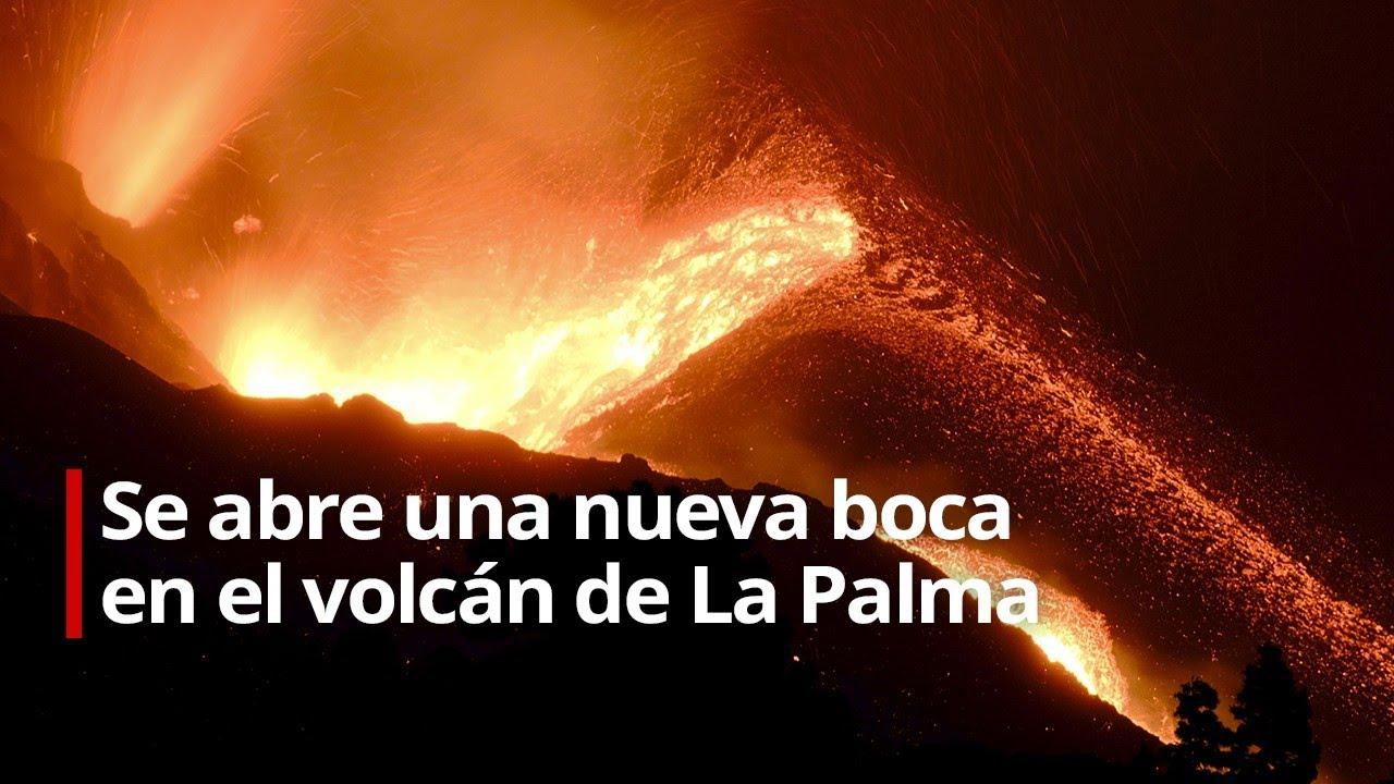 Se abre una nueva boca en el volcán de La Palma