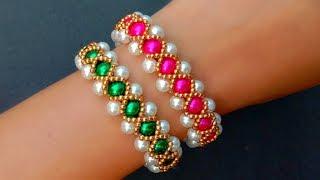 How To Make Vintage Bracelet//Pearl Bracelet// Useful & Easy