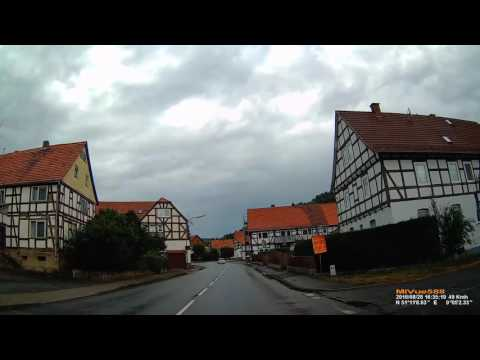 D: Buhlen. Gemeinde Edertal. Landkreis Waldeck-Frankenberg. Ortsdurchfahrt. August 2016