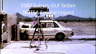 1979-1984 Subaru GL / GLF / Leone Nhtsa Frontal Impact