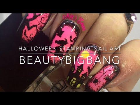 Halloween Stamping Nail Art Tutorial Beautybigbang