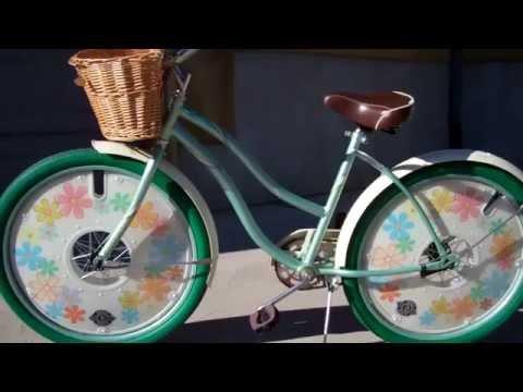 Huffy Walmart Beach Cruiser Bicycle with Deko Discs wheel covers