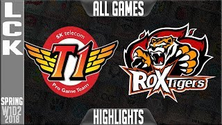 SKT vs ROX Highlights ALL GAMES | LCK Spring 2018 S8 W1D2 | SK Telecom T1 vs ROX Tigers