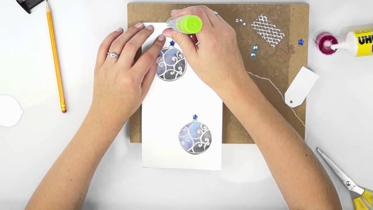 karte selber basteln weihnachtskarte basteln mit kindern. Black Bedroom Furniture Sets. Home Design Ideas