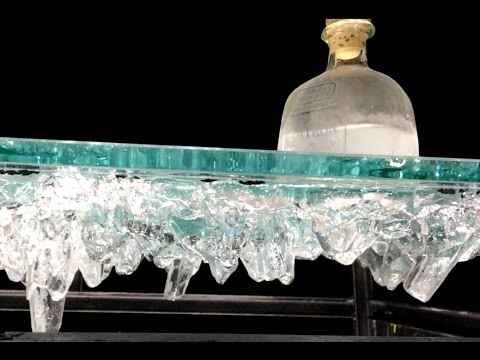 Table of Glass Crystal Stalactite