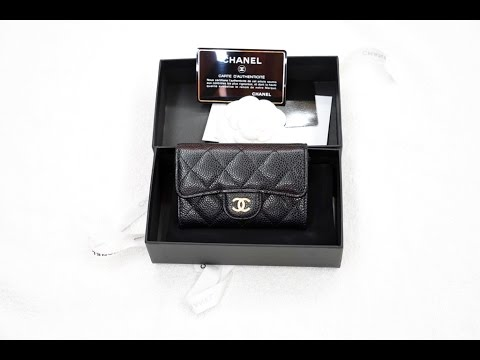 5b0fb43e66d506 Chanel Card Holder Caviar Black - YouTube