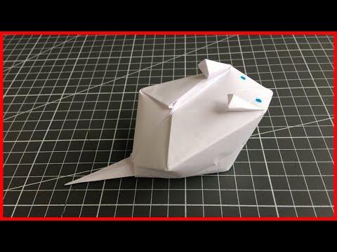 Оригами ХОМЯК. Как сделать из бумаги ХОМЯКА.