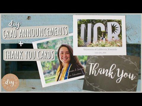 DIY Graduation Announcements & Thank You Cards