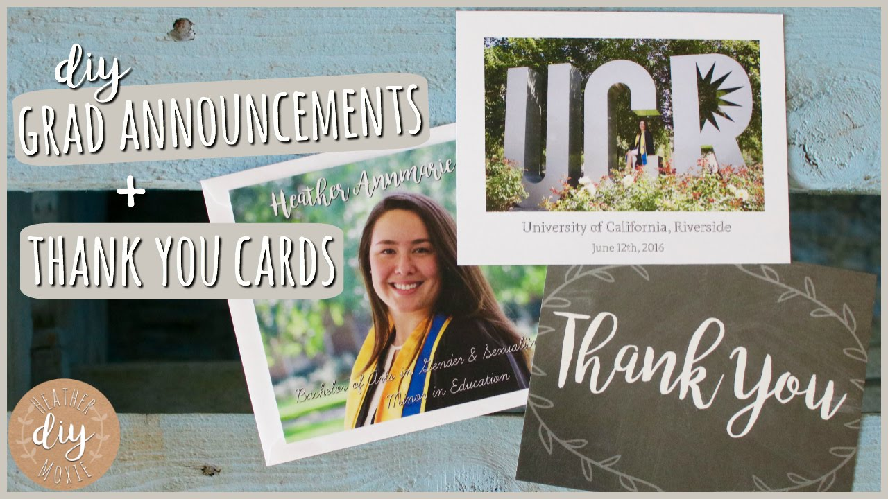 diy graduation announcements thank