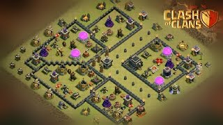 "How To 3 STARS this Popular ""(TH9 ANTI HGHB + GOVAHO)"" WAR BASE 