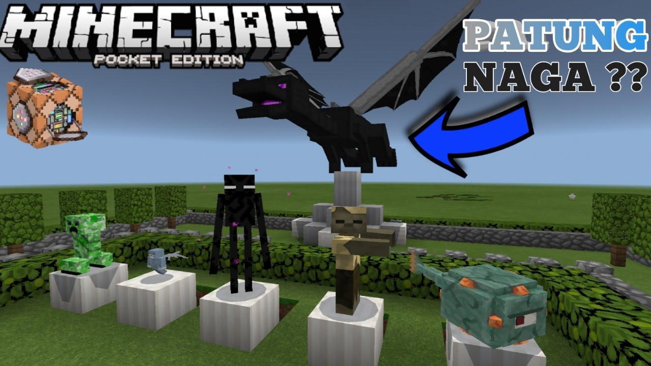 Cara Membuat Mob Menjadi Patung Diam No Mods Di Minecraft Pe 1 1 Command Block Creation Youtube