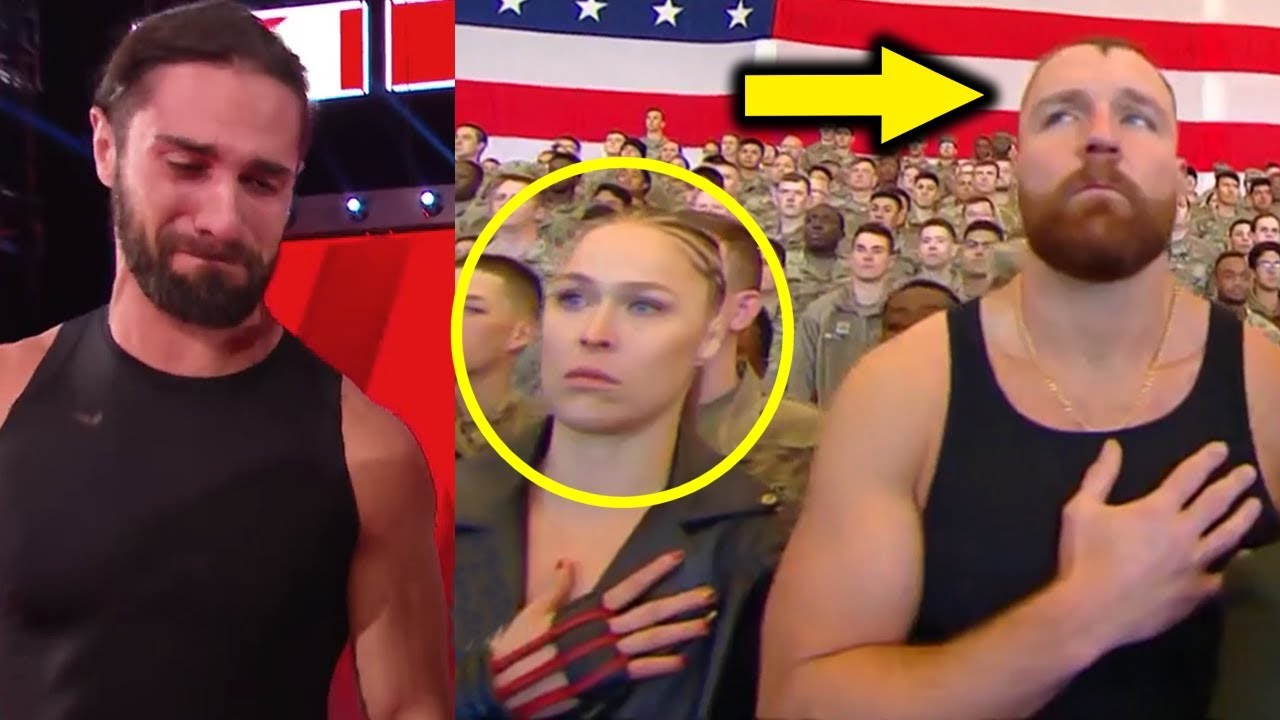 10 Wwe Wrestlers Breaking Character Dean Ambrose Ronda Rousey Caught Out Of Character