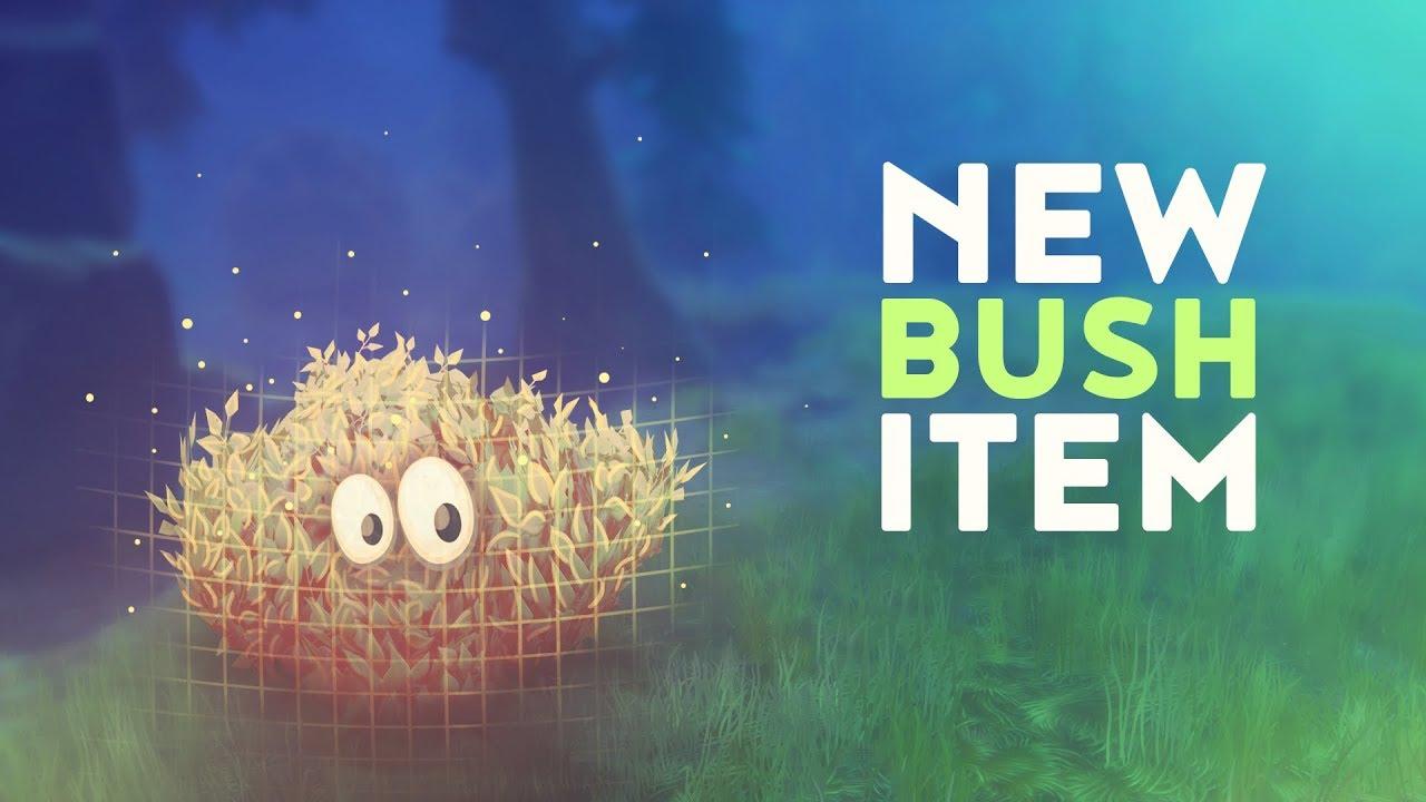 NEW BUSH ITEM! (Fortnite Battle Royale) - YouTube