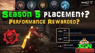 Gears of War 4 Ranked Season 5, KOTH CSR placement results