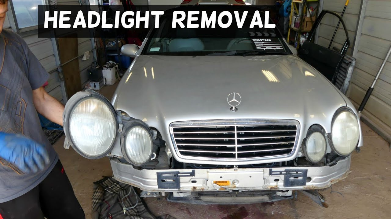 Mercedes W208 Headlight Removal Replacement Clk200 Clk230 Clk 320 Rh  Youtube Com Mercedes Benz Clk 320