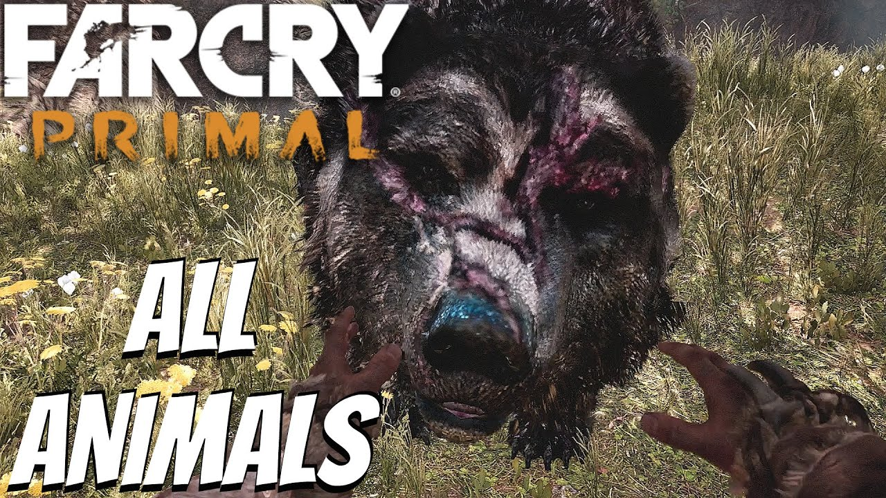 Far Cry Primal All Tameable Animals All Beasts Tamed Youtube