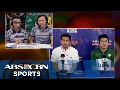 UAAP 77: Post-game interview with Coach Juno and Jeron Teng