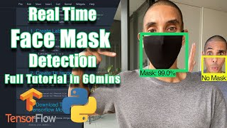 Real Time Face Mask Detection with Tensorflow and Python Custom Object Detection w MobileNet SSD
