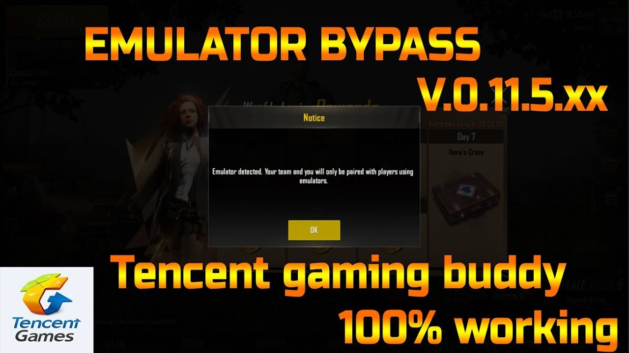 PUBG Emulator detection bypass permanently Updated version 0 11 5