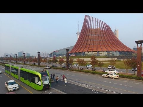 The intelligent train: Autonomous Rail Rapid Transit of China runs on virtual tracks.