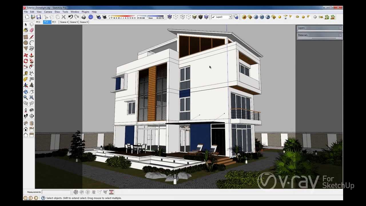 & V-Ray 2.0 for SketchUp - Dome Light - YouTube azcodes.com