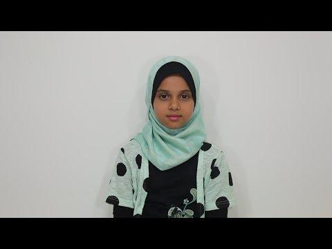 Maryam Masud is reciting Surah Al-Humazah