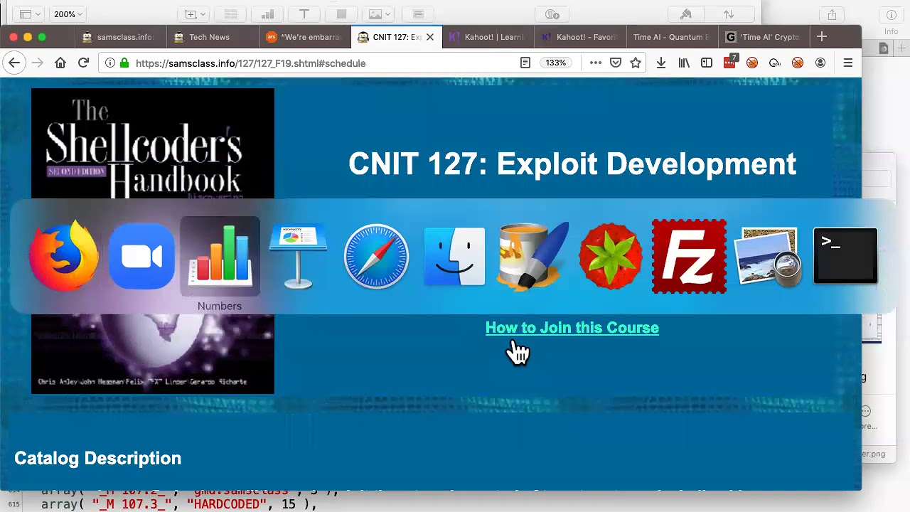 CNIT 127: Exploit Development -- Sam Bowne