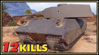 VK 100.01 (P) - 12 Kills - 1 vs 6 - World of Tanks Gameplay