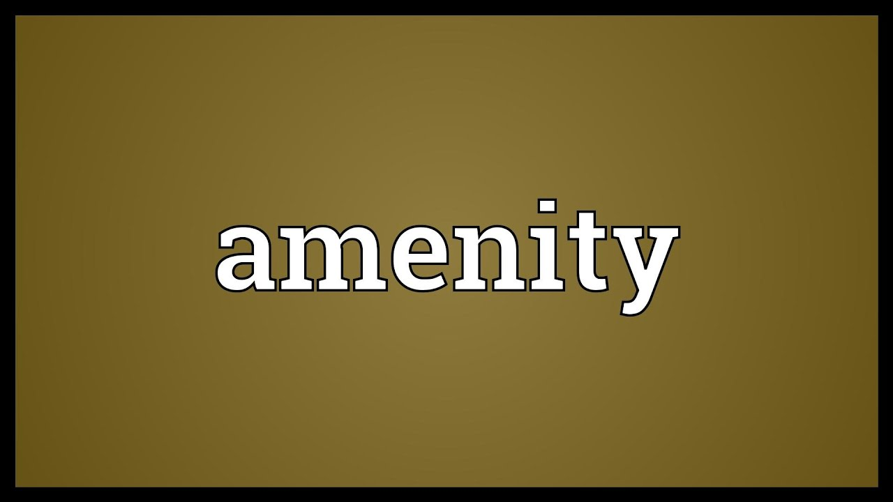 Image result for amenity the word