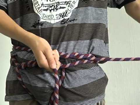 DIY harness 06 - harness from a climbing rope - YouTube